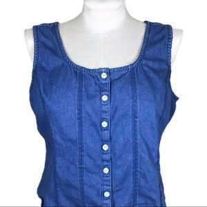 Button Up Chambray Tank
